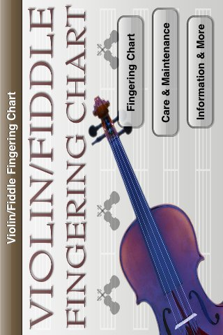 Violin/Fiddle Fingering Chart