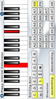 Piano Interval Calculator (Quick Reference)
