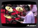 Overview of the Alesis booth 6400 in hall A. Winter NAMM 2009.