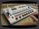 Circuit bent Roland TR707 drum machine with pitch controls, modified by Diabolical Devices/Class A Electronics.