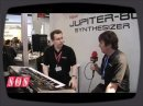 Synthesizer Jupiter-80 filmed by SOS during the latest MusikMesse.