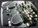 Two-channel DJ mixer controls up to four decks with Virtual DJ software. It features balanced 1/4