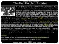 The Red Hot Jazz Archive