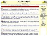 Dance Songs Lyrics