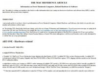 The mac reference article