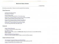 Electronic Music Articles