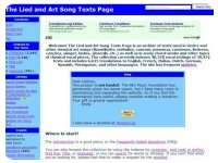 Lieder and Song Texts Page