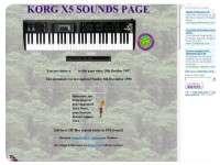 Korg X5 Sound Page