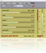 Plug-ins : Aggro Compressor Released (OS 9/X, TDM) - macmusic