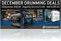 Virtual Instrument : Toontrack Launch December Drum Deals! - macmusic