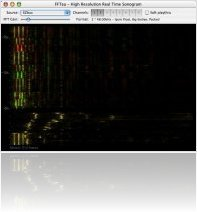 Music Software : FFTea - real time high resolution spectrum analyser - macmusic